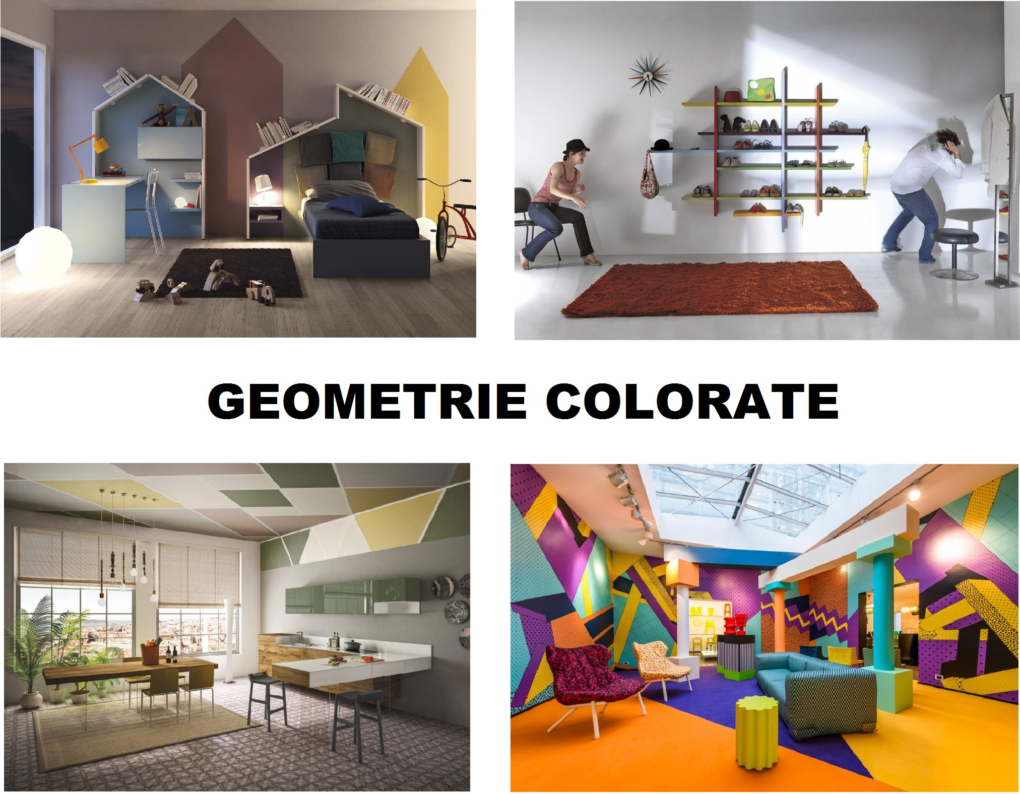 geometrie colorate - COLLAGE
