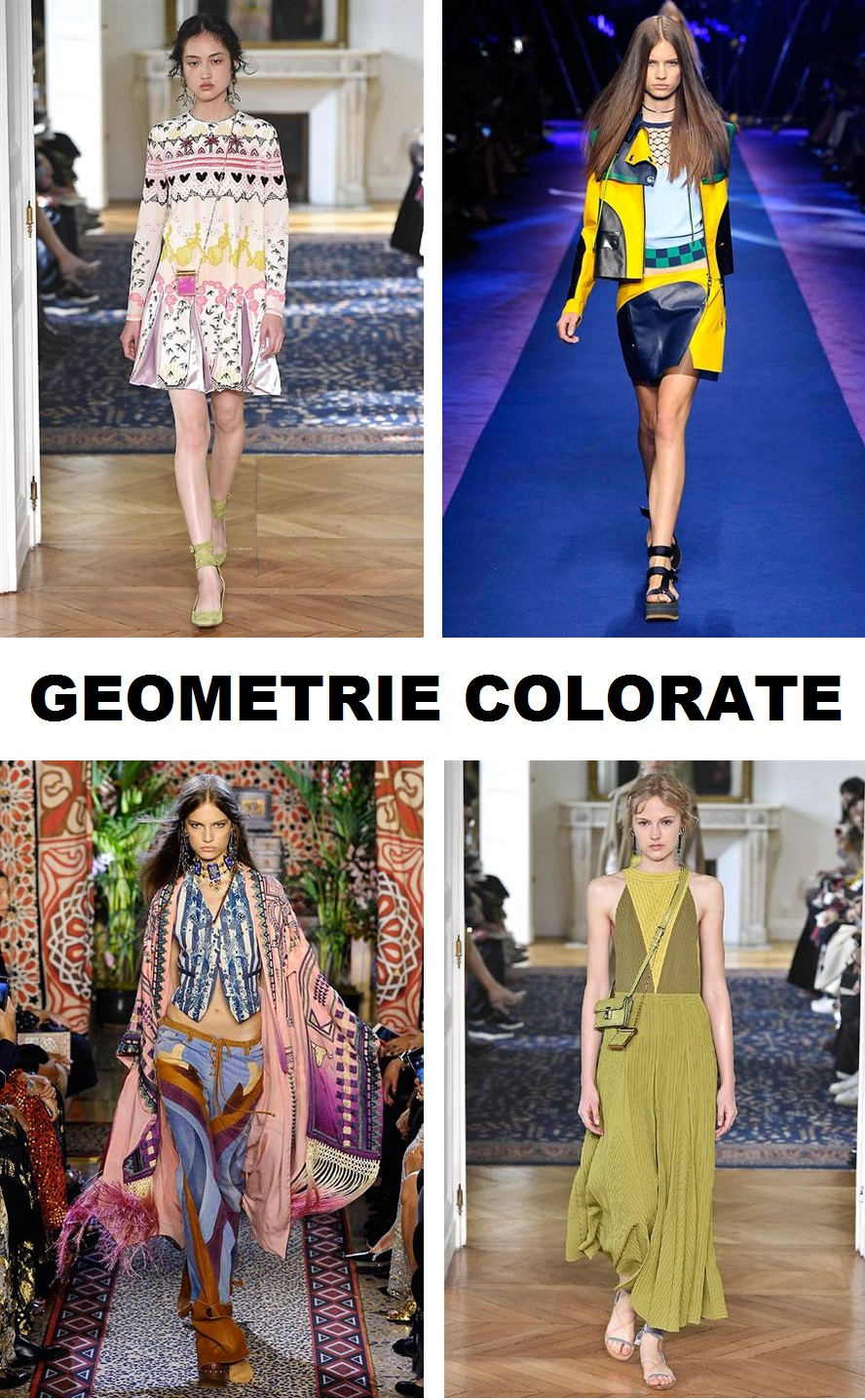 geometrie colorate fashion COLLAGE