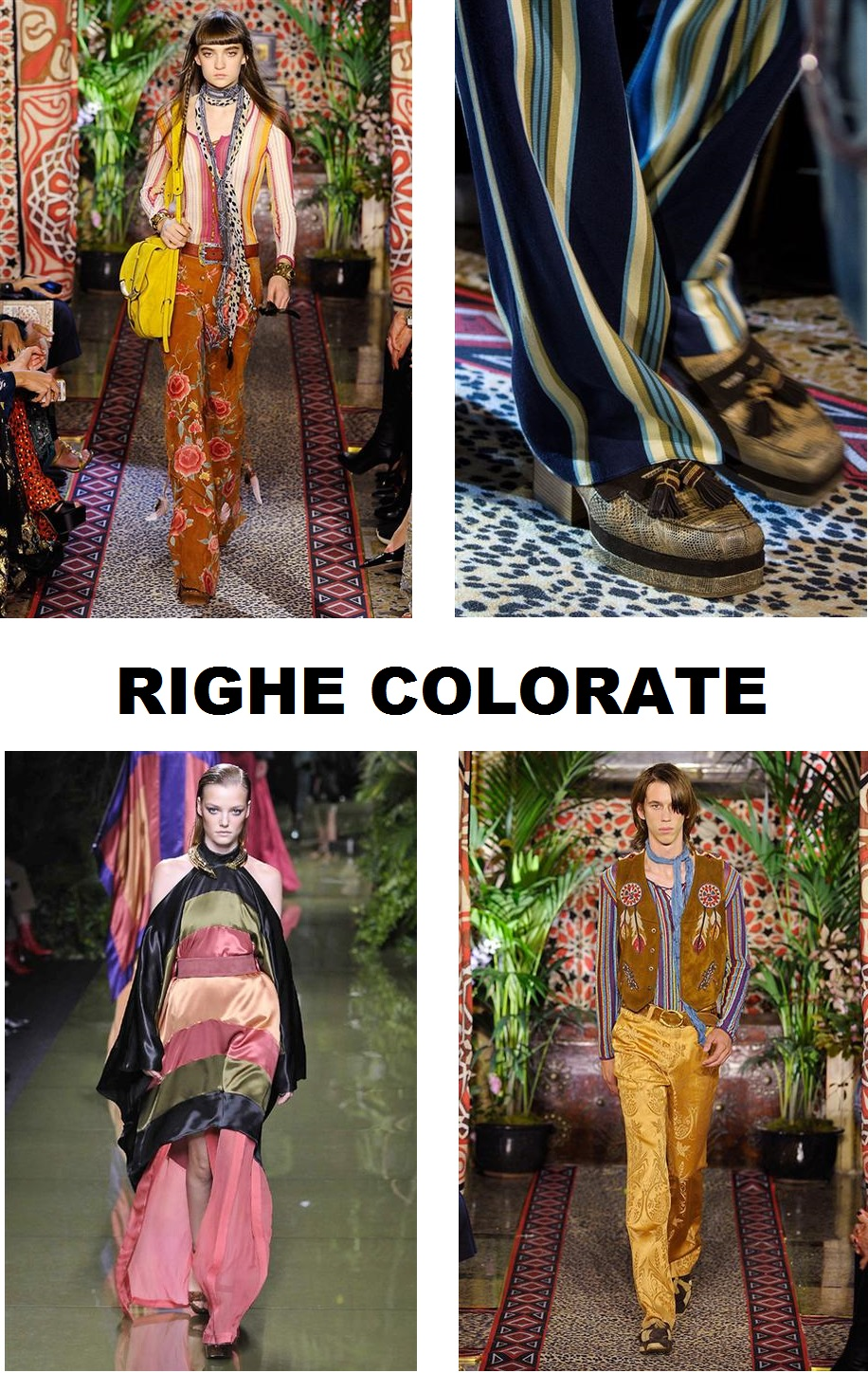 righe colorate COLLAGE